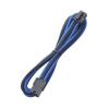 Bitfenix 8-Pin PCIe hosszabbító 45cm - sleeved fekete/kék/fekete