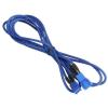 Bitfenix 3-Pin hosszabbító 60cm - sleeved kék/kék