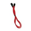 Bitfenix 3-Pin hosszabbító 30cm - sleeved piros/fekete