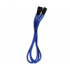 Bitfenix 3-Pin hosszabbító 30cm - sleeved kék/fekete