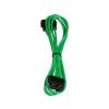 Bitfenix Molex hosszabbító 45cm - sleeved zöld/fekete
