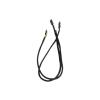 Bitfenix 2-Pin I/O-Panel hosszabbító 30cm - sleeved fekete/fekete