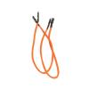 Bitfenix 2-Pin I/O-Panel hosszabbító 30cm - sleeved narancs/fekete