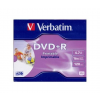 Verbatim DVD+R 4,7GB 16X PRINTABLE FULL ID BRAND JEWEL 43508
