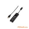 Hama BusPower USB2.0 Hub 4port On/Off Black