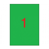 APLI APLI 210x297mm színes zöld 100db/cs | Színes etikettek