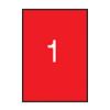 APLI APLI 210x297mm színes neon piros 20db/cs | Színes etikettek