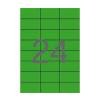 APLI APLI 70x37mm színes zöld 2400db/cs | Színes etikettek