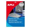 APLI APLI 63,5x29,6mm vízálló kerekített ezüst 540db/cs | Poliészter etikettek etikett