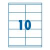SilverBall Etikett 105x58mm 10címke/lap SilverBall <100lap/dob>
