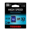 Toshiba Memóriakártya, Micro SDHC, 32GB, Class 10, adapterrel, TOSHIBA