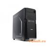 "Zalman Z1 Midi Black Black,2x5,25"",belső 4x3,5"",ATX,Midi Tower,2xUsb,Audio,Táp nélkül,199x432x457mm,1x2,5"",1x"