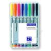 STAEDTLER Alkoholmentes marker készlet, OHP, 0,4 mm, STAEDTLER Lumocolor 311 S, 8 különböző szín (TS311WP8)