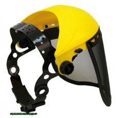 PC arcvédő pajzs, dróthálós