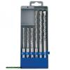 betonfúró klt. SDS PLUS, 6db, 110mm 5,6,8, 160mm 8,10,12, műanyag tartóban