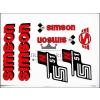 SIMSON MATRICA KLT. N51 PIROS / SIMSON - 51
