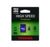Toshiba Memóriakártya, Micro SDHC, 8GB, Class 4, adapterrel, TOSHIBA memóriakártya