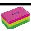 TARTAN Öntapadó jegyzettömb, 127x76 mm, 100 lap, 6 tömb/cs, , vegyes neon színek
