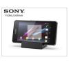 Sony Xperia Z1 Compact (D5503) gyári asztali telefontartó töltő funkcióval - DK32 black mobiltelefon kellék