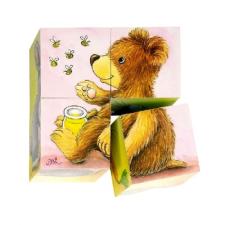 Goki Fa mesekocka 6 állattal puzzle, kirakós