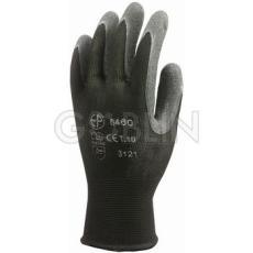 Euro Protection Poliamid szerelõkesztyû, kondenzált fekete latex tenyérrel, csúszásbiztos