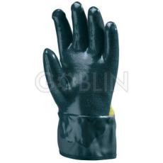 Euro Protection Tenyéren vágásbiztos Kevlar®-ra, háton pamutra kétszer mártott nitril kesztyû PVC...
