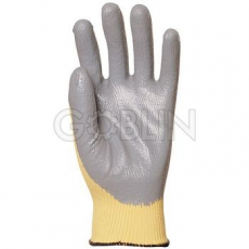 Euro Protection Kevlar® kesztyûre kondenzált szürke, vegyszerálló nitril, szellõzõ hát
