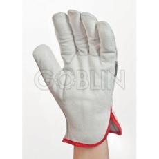 Euro Protection Munkakesztyû: Szürke színmarhabõr tenyér és kézhát, ökölcsontnál fényviyyzaverõ csík