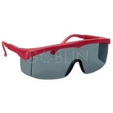 Lux Optical® Pivolux védõszemüveg, piros keret, sötétített lencse, állítható dõlésszög és...