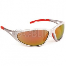 Lux Optical® Freelux védõszemüveg, piros tükrös lencse, nagy szilárdságú ezüst keret, piros...