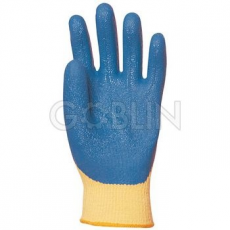 Euro Protection Kevlar® kesztyûre kondenzált kék csúszásbiztos latex, szellõzõ kézhát