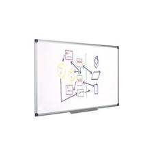 Fehértábla, mágneses, zománcozott, 120x240 cm, alumínium keret felírótábla