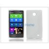 Haffner Nokia X/X+ szilikon hátlap - S-Line - fehér