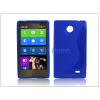 Haffner Nokia X/X+ szilikon hátlap - S-Line - kék