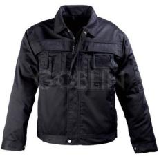 Coverguard CLASS fekete munkaruhák nagy igénybevételre, kabát, cipzáras plusz patentos, 8 zseb, plusz...