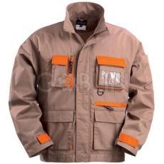 Coverguard CARPENTER bézs munkaruházat narancs díszítéssel, kabát, dzsekifazonú, rejtett...