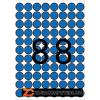 Etikett, 16 mm kör, színes, A5 hordozón, APLI, kék, 704 etikett/csomag (LCA12099)