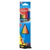 Színes ceruza készlet, háromszögletű, hegyezővel, MAPED