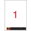 Etikett, 210x297 mm, poliészter, időjárásálló, APLI, 100 etikett/csomag (LCA12121)