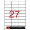 Etikett, univerzális, 70x30 mm, APLI, 13500 etikett/csomag (LCA10560)