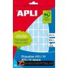 Etikett, 25x40 mm, kézzel írható, színes, kerekített sarkú, APLI, zöld, 128 etikett/csomag (LCA2757)