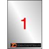 Etikett, 210x297 mm, poliészter, időjárásálló, APLI, ezüst, 100 etikett/csomag (LCA12974)