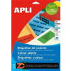 Etikett, 105x148 mm, színes, APLI, kék, 80 etikett/csomag (LCA12992)