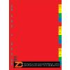 Regiszter, műanyag, A4, A-Z, DONAU, színes (D77260)