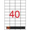 Etikett, lézernyomtatókhoz, 52,5x29,7 mm, APLI, 10000 etikett/csomag (LCA2518)