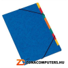 Gumis mappa, karton, A4, regiszteres, 9 részes, DONAU, kék (D8649)
