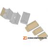 Archiváló konténer, levehető tető, 522x351x305 mm, karton, DONAU, kék-fehér (D76665)