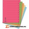 Regiszter, karton, A4, mikroperforált, DONAU, zöld (D8611Z)