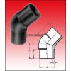 KPE-45° ív könyök 250 tompa (SDR11 - SDR17)