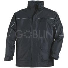 Coverguard RIPSTOP fekete kabát, szakadásbiztos anyag, polárbélés